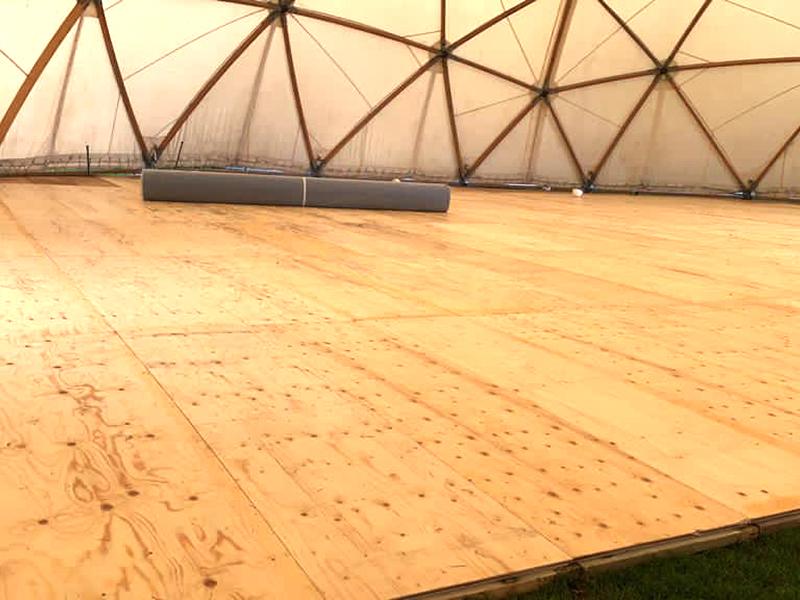 25m Geodesic Dome Flooring