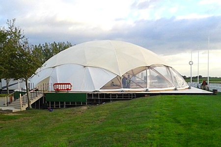 22.5m Geodesic Dome Hire