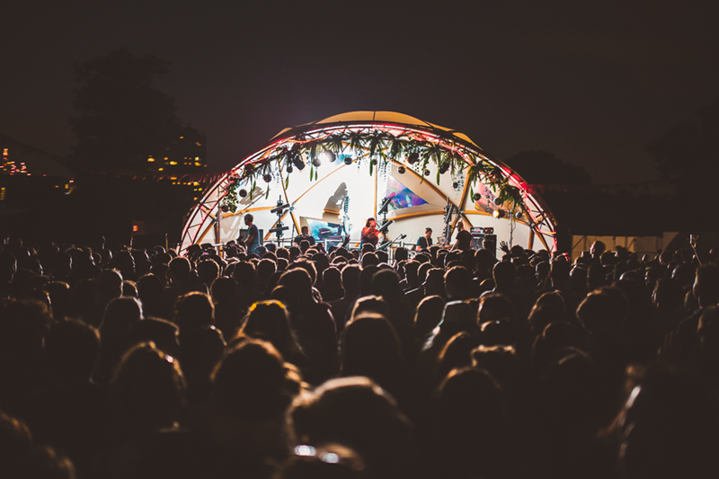 10m Geodesic Open Stage Hire